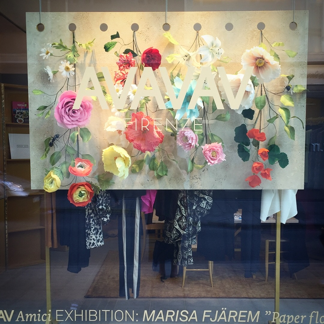 Avavav Window Display Marisa Fjrem Illustration And Design